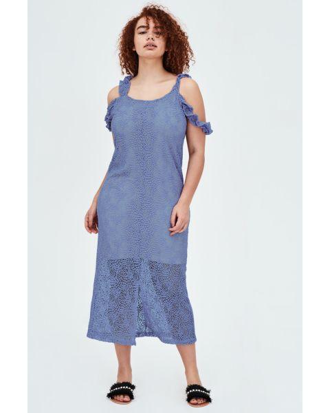 SULFO Lace Midaxi Dress With Split Straps