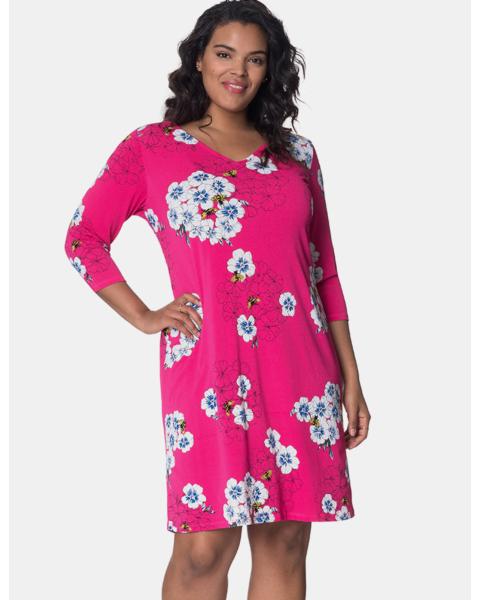 Nouveau Sheath Dress in Hydrangea Bloom